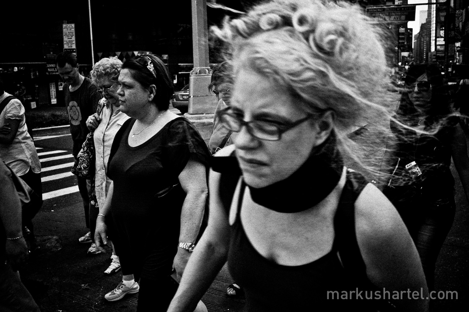 black-and-white street photography by Markus Hartel, New York