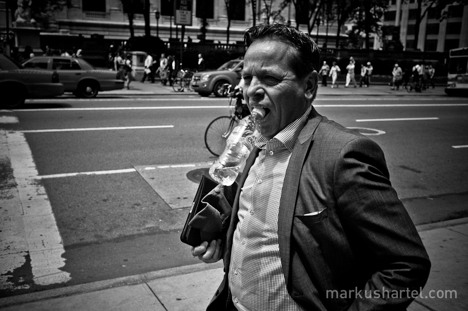 black and white street photography by Markus Hartel, New York