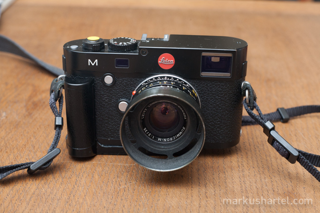 Leica M240 jimmy rigged hand grip