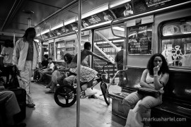 Bike on subway 168th St. - street photography by Markus Hartel, New York