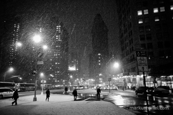 Flatiron Blizard - street photography by Markus Hartel, New York