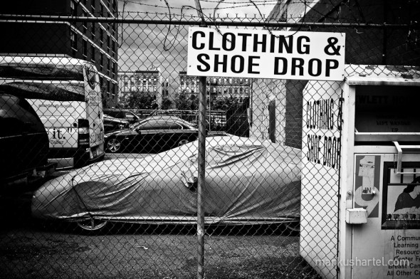 Clothing & Shoe Drop - street photography by Markus Hartel, New York